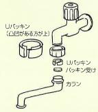 自在水栓の継目から水が漏れる